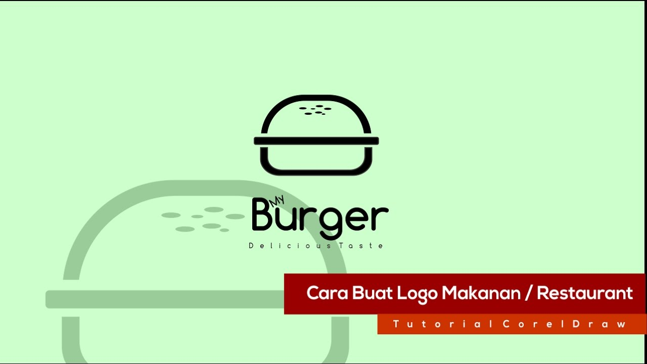 Cara Buat Logo Restaurant Stand Makanan Simple Coreldraw