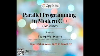 Parallel Programming in Modern C++(Taskflow) by Tsung-Wei Huang