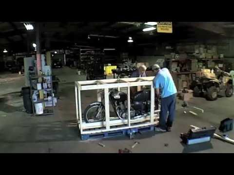 shipping a motorcycle to europe youtube. Black Bedroom Furniture Sets. Home Design Ideas