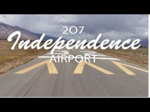 Flying with Tony Arbini into the Independence Airport (207)-Independence, California