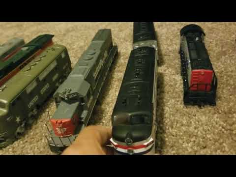 all my ho scale locomotives