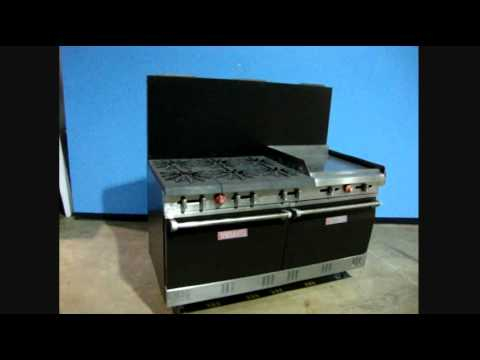 Vulcan 6 Burner Commercial Range W24 Griddle Youtube