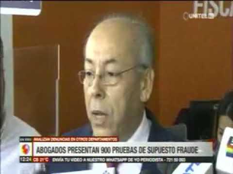 04 11 2019 abogados denuncian al tse por fraude electoral ante la fiscalia (red unitel)