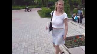 Russian Mom in See-through Skirt
