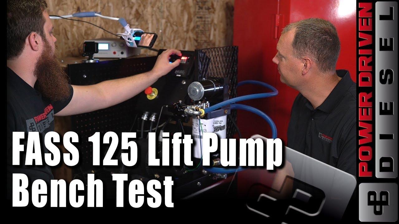FASS 125 Lift Pump Bench Test | Power Driven Diesel