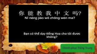 Chinh phục Tiếng Trung | Một số mẫu câu giao tiếp hằng ngày