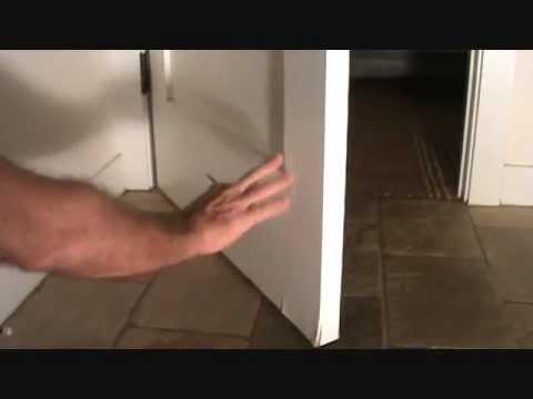 How To Repair A Damaged Bathroom DoorPart YouTube - Bathroom door repair