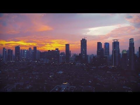 Chasing Beautiful Sunset Over Downtown Jakarta