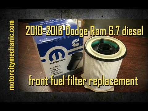 2010 2016 dodge ram 6 7 diesel front fuel filter replacement youtube