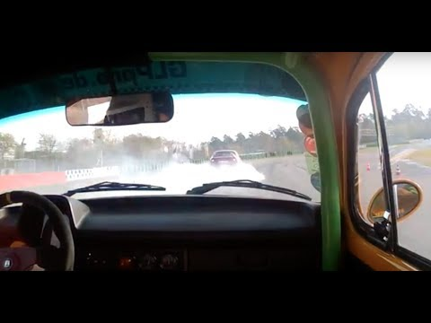 VW 1303 bug with 2,6l type 4 engine - racing action in Hockenheim