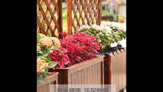 나무 꽃 스탠드 화분 목재대문 울타리 파티션  장식