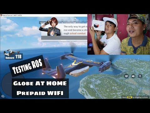 RULES OF SURVIVAL in Globe AT HOME Preapaid WIFI