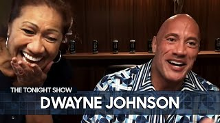 Dwayne The Rock Johnson's Mom Serenades Jimmy with a Ukulele | The Tonight Show