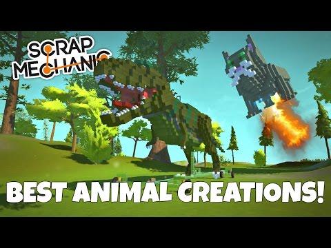 BEST ANIMAL CREATIONS! Scrap Mechanic Workshop Hunters - EP 4