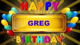 Greg - Animated Cards - Happy Birthday