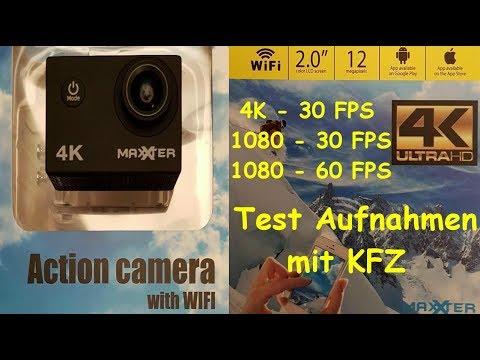 action action cam 4k maxxter act acam4k test 1 autofahrt youtube. Black Bedroom Furniture Sets. Home Design Ideas