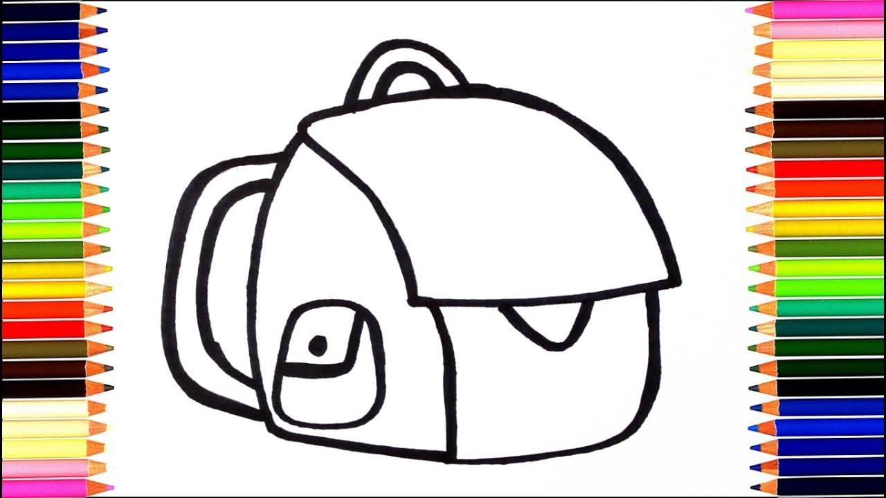 Как нарисовать рюкзак / мультик раскраска ранец для детей ...