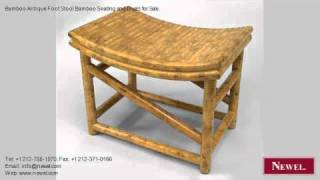 Bamboo Antique Foot Stool Bamboo Seating And Chairs For
