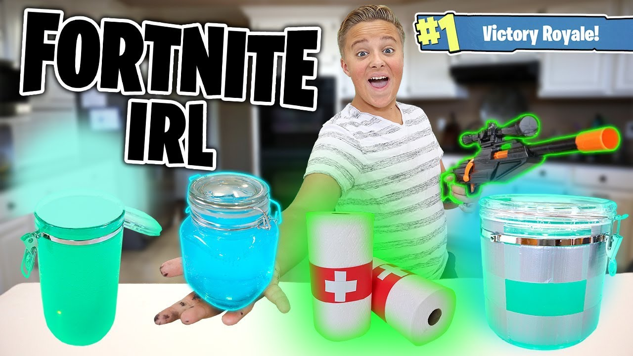 Fortnite Items IRL!! How to Make Chug Jug, Shield potion, and MORE!