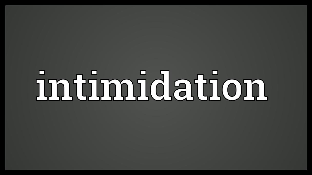 Intimidating definition in dictionary meaning