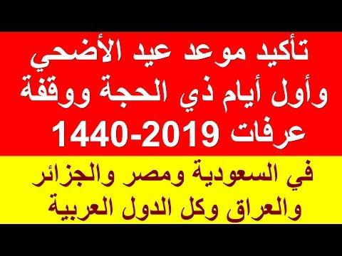 تأكيد موعد عيد الاضحى 2019 – عيد الاضحى 1440 بالدول العربية هنا بالتاريخ الدقيق بمصر والسعودية فلكيا