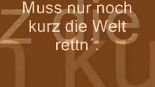 Tim Bendzko - Nur noch kurz die Welt retten/ Lyrics