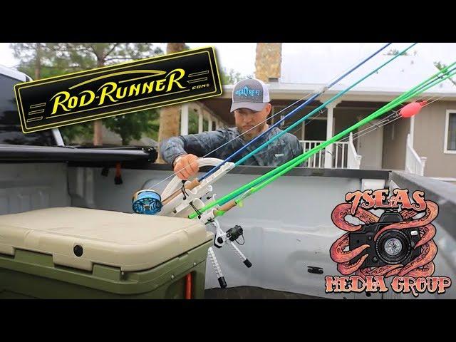 Land Based Fishing with ROD-RUNNER Fishing Rod Caddies (7 Seas)
