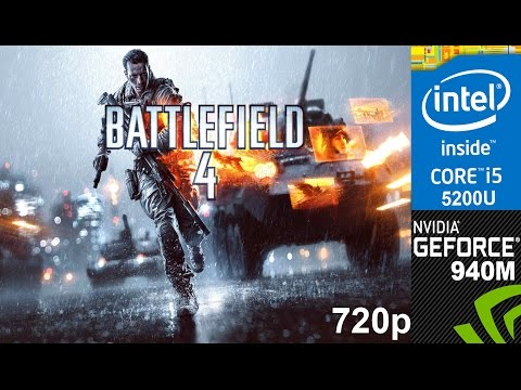 Battlefield 4 on HP Pavilion 15-ab032TX, Ultra Setting 720p, Core i5 5200u + Nvidia Geforce 940m