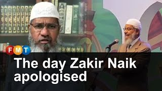 The day Zakir Naik apologised