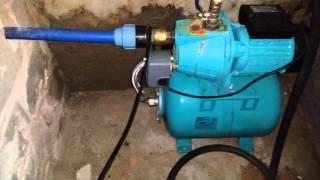 Автономное водоснабжение гаража. Установка насосной станции прямо в подвале.(Скважина в гараже. Вода и насосная станция., 2016-04-08T18:33:19.000Z)