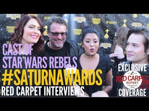 Cast of Star Wars Rebels #DisneyXD interviewed at the 43rd Annual Saturn Awards #SaturnAwards