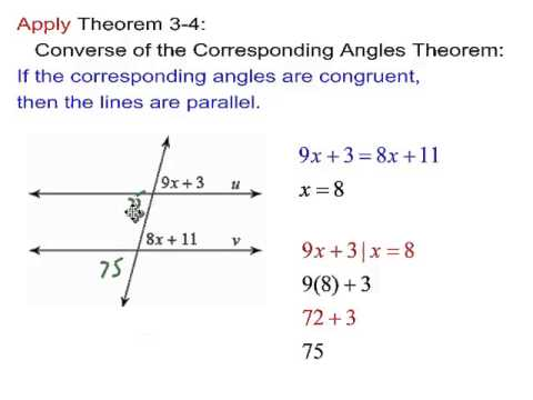 Geometry Ch. 3.3 Proving Lines Parallel - YouTube