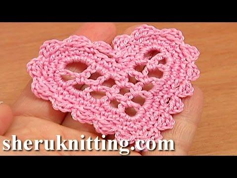 Crochet Mesh Heart Tutorial 11 Valentine's Day, Wedding Ornament