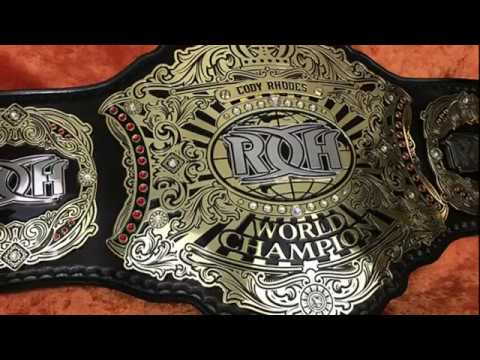 NEW ROH WORLD CHAMPIONSHIP TITLE BELT REVIEW!