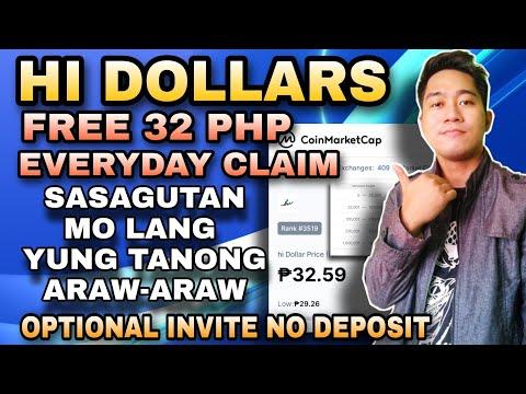 HI DOLLARS REVIEW TAGALOG FREE 32 PHP ARAW ARAW | SAGUTIN MO LANG YUNG TANONG MAY PERA KA NA!?