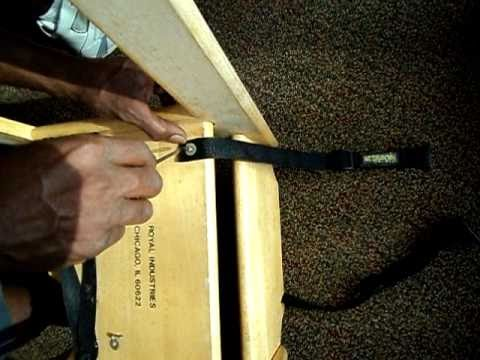 Commercial high chair lap belt installation