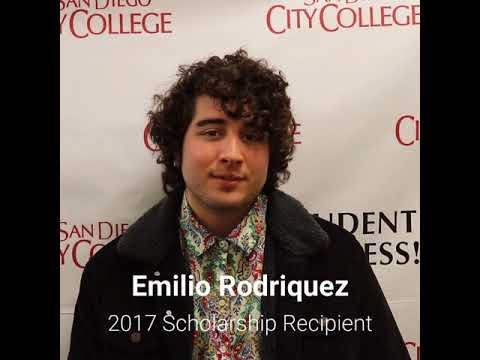 Friends of Downtown San Diego Scholarship recipient, Emilio Rodriquez , SD City College student