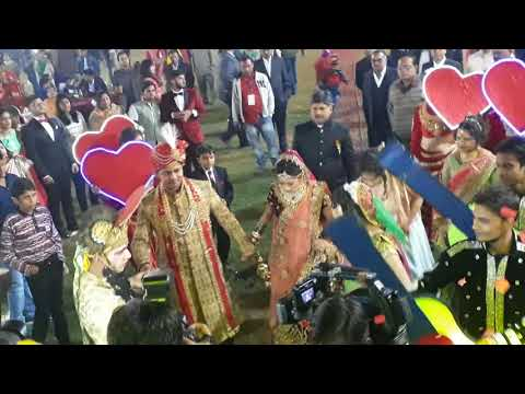Radha kishana Entry at Wedding Event Agra with Jain family Org by Events Zone: 9358282335