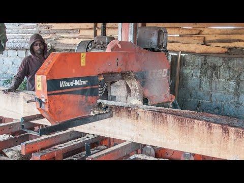 LT40 sawmill cuts structural timber in Africa  WoodMizer Africa