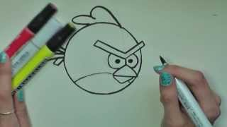 How to Draw Red Angry Birds in Pencil - Artist Rage