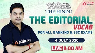The Hindu Vocabulary | The Hindu Editorial Vocab for Banking & SSC Exams | 4 July 2020