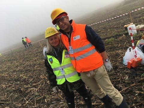 Recupero scavo , Spitfire MK IX , Cavarzere (VE) , Ottobre 2017