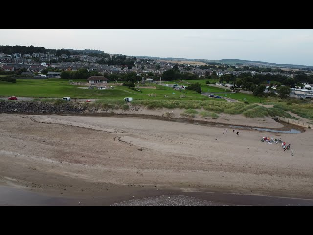 Flying along Monifieth Water front