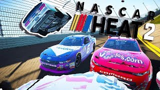 Biggest Nascar Crash Ever At Talladega! - Nascar Heat 2 Crashes And First Impressions