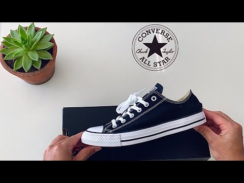 Converse Chuck Taylor All Star Unboxing - Low Top Black & White