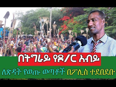 People Who Came Out To Street To Clean Their City Arrested In Tigray Region