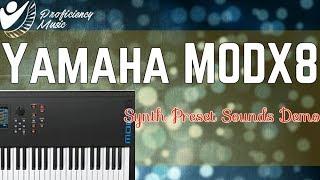 Yamaha MODX8: Synth Preset Sounds Demo (Spiralizer + Synth )