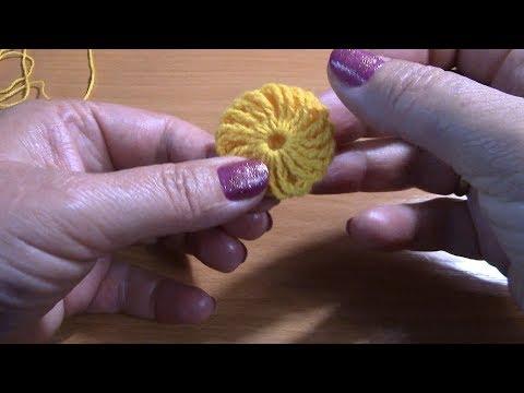 Вязание цветка для украшения