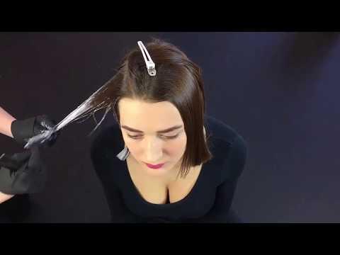 Омбре на короткие волосы с челкой в домашних условиях фото