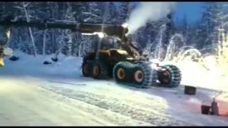 PONSSE forest machines in Siberia, Krasnoyarsk